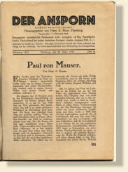 Rare Paul Mauser Biography written in 1931.