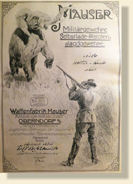 Mauser Poster written in German and Turkish Language.