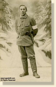 Johan Benjamin Jauhiainen with his Artillery Luger. All Rights Reserved.