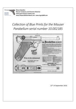 Mauser Parabellum (Interarms) Blue Prints Collection Document