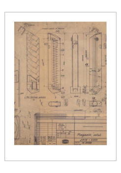 One page of the Mauser Parabellum (Interarms) Blue Prints Document